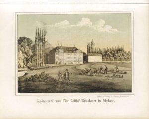 pinnerei von Chr. Gotthlf. Brückner in Mylau, in: Album der sächsischen Industrie, hg. von Louis Oeser (Foto: Deutsche Fotothek; df_dat_71398010).